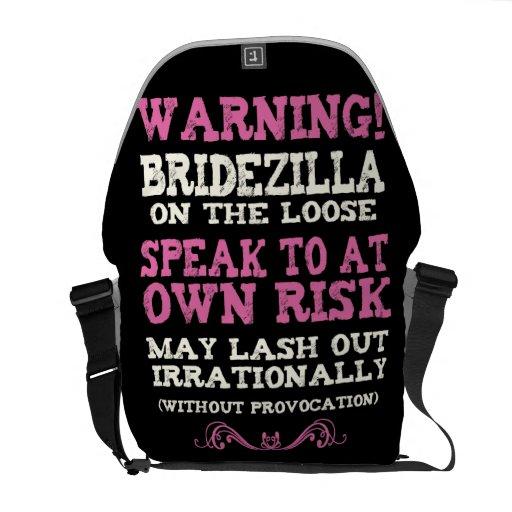 Bridezilla på det löst kurir väskor