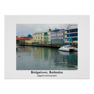 Bridgetown Barbados affischtryck Poster