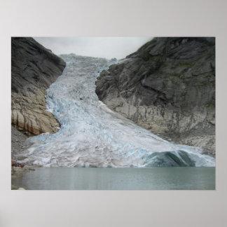 Brikdalsbreen glaciär poster