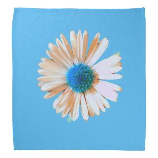 Briljant blått- och vitdaisy scarf