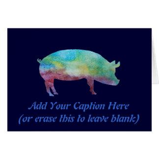 Briljant Färg-tvättade grisar OBS Kort