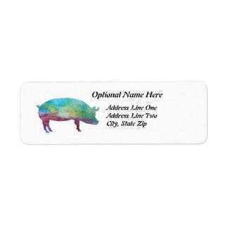 Briljant Färg-tvättade grisar Returadress Etikett