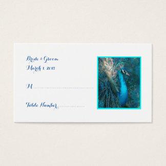 Briljant kort för ställe för blåttpåfågelbröllop