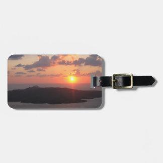 Briljant Santorini solnedgång Bagagebricka