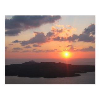 Briljant Santorini solnedgång Vykort