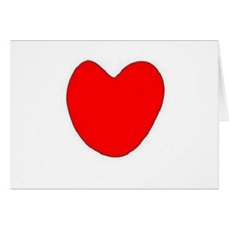 Brinna kärlekhjärta hälsningskort