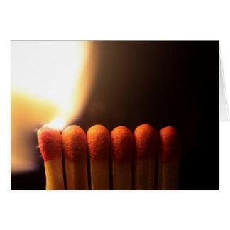 brinns matchsticks hälsningskort