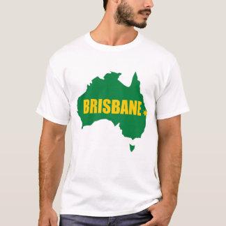 Brisbane grönt och guld- kartaT-tröja T-shirts
