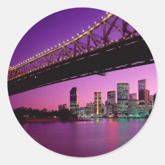 Brisbane Queensland, Australien Runt Klistermärke