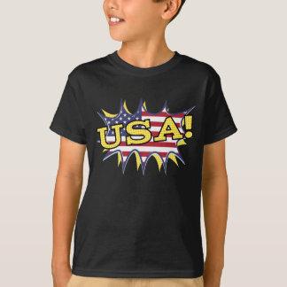 Bristning för stjärna för flagga för Pow för USA Tröja