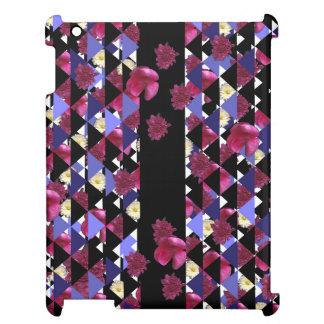 Bristning med blommor & trianglar vid iPad mobil skal