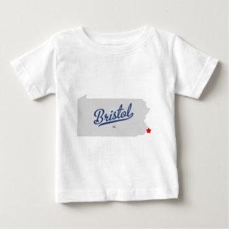 Bristol Pennsylvania PA-skjorta Tee Shirts