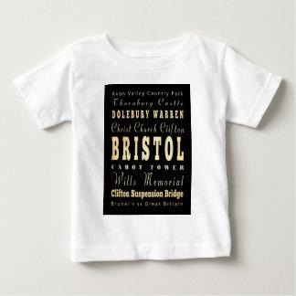 Bristol stad av United Kingdom typografikonst T Shirt