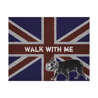 Britannia serie: Francois den franska bulldoggen Canvastryck