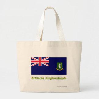 Britische Jungferninseln Flagge mit Namen Tote Bags