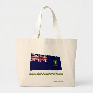 Britische Jungferninseln Fliegende Flagge mit-namn Tote Bag