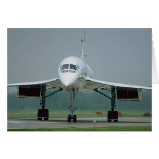 British Airways Concorde, på taxin långt Hälsningskort