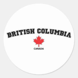 British Columbia kvarter Runt Klistermärke