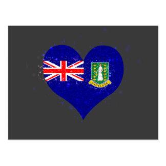 British Virgin Islands sjunker glänsande unikt Vykort