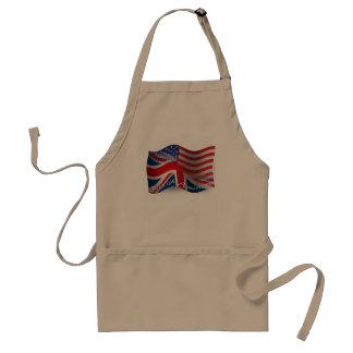 Britt-Amerikan som vinkar flagga Förkläde
