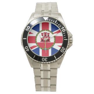Britt/Gibraltar flaggaklocka Armbandsur