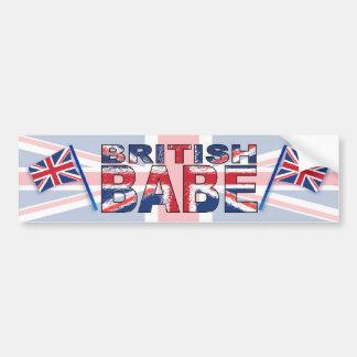 Brittisk Babe Bildekal
