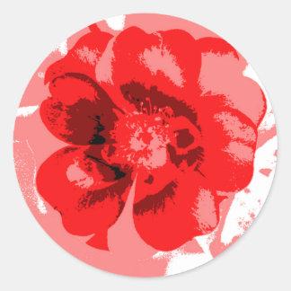 Brittisk blomma runt klistermärke
