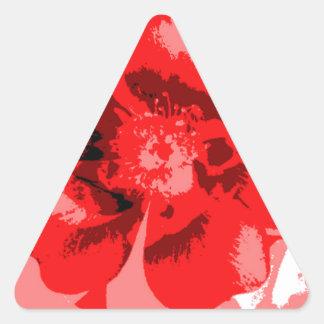 Brittisk blomma triangelformat klistermärke