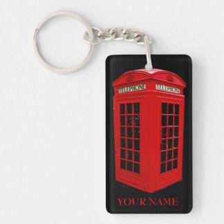 Brittisk callboxkeychain nyckelring