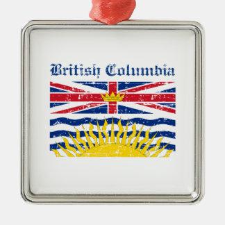 brittisk colombia Kanada flaggadesign Julgransprydnad Metall