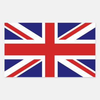 Brittisk design för jack för flaggaklistermärkear rektangulärt klistermärke