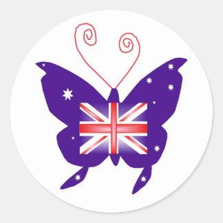 Brittisk Divafjäril Runt Klistermärke