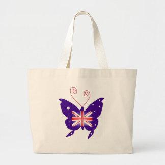 Brittisk Divafjäril Tote Bags