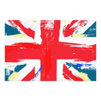 Brittisk facklig ha på sig jackflaggavintage fotografi