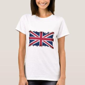 Brittisk flagga, facklig jack, patriotisk Grunge Tee Shirt