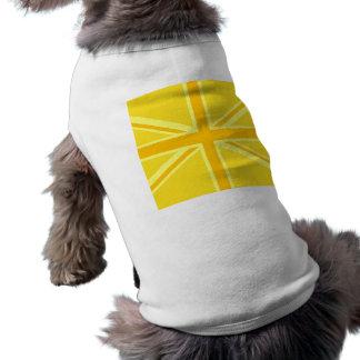 Brittisk flagga för mycket gul facklig jack husdjurströja