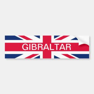 Brittisk flagga & Gibraltar textbildekal Bildekal