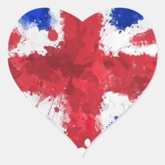 Brittisk flagga hjärtformat klistermärke
