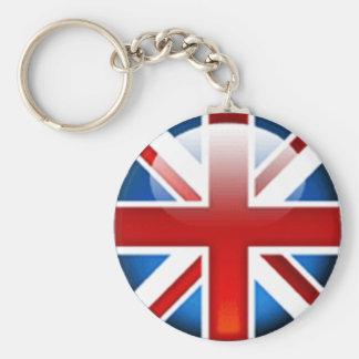 Brittisk flagga Keychain för facklig jack Rund Nyckelring