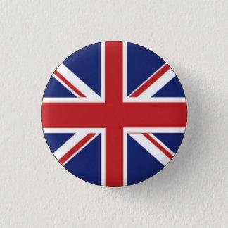 Brittisk flagga mini knapp rund 3.2 cm