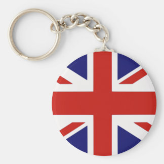 Brittisk flagga rund nyckelring