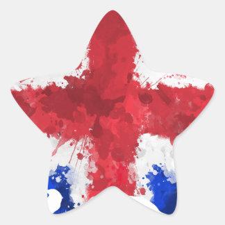 Brittisk flagga stjärnformat klistermärke