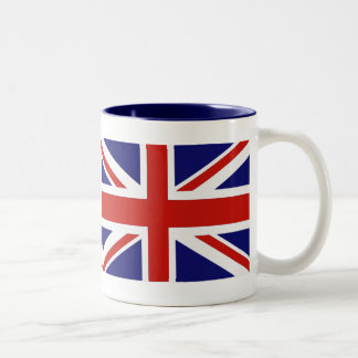 Brittisk flagga Två-Tonad mugg