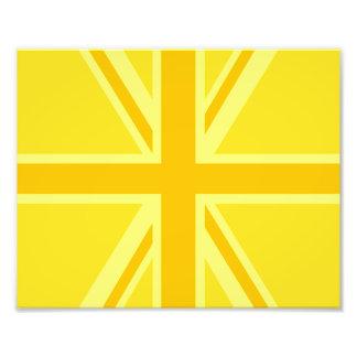 Brittisk flaggabakgrund för gul gul facklig jack fototryck