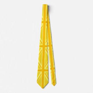 Brittisk flaggabakgrund för gul gul facklig jack slips