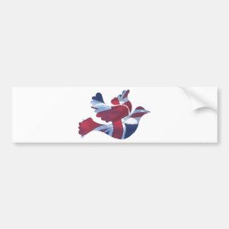 Brittisk flaggaduva bildekal