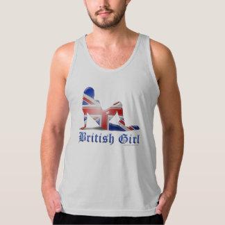 Brittisk flickaSilhouetteflagga Tank Top