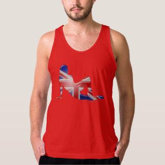 Brittisk flickaSilhouetteflagga Tanktop