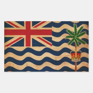 Brittisk Indiska oceanenterritoriumflagga Rektangulärt Klistermärke