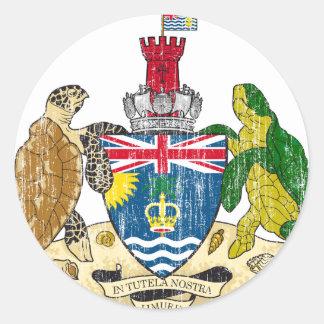 Brittisk Indiska oceanenterritoriumvapensköld Runt Klistermärke